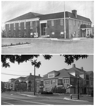 Evesham_Municipal_Building_Site_Then_and_Now